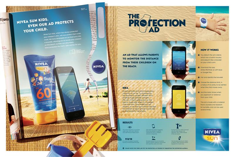 ORO Protection ad, de FCB Brasil para Nivea Sun Kids de Nivea Brasil.
