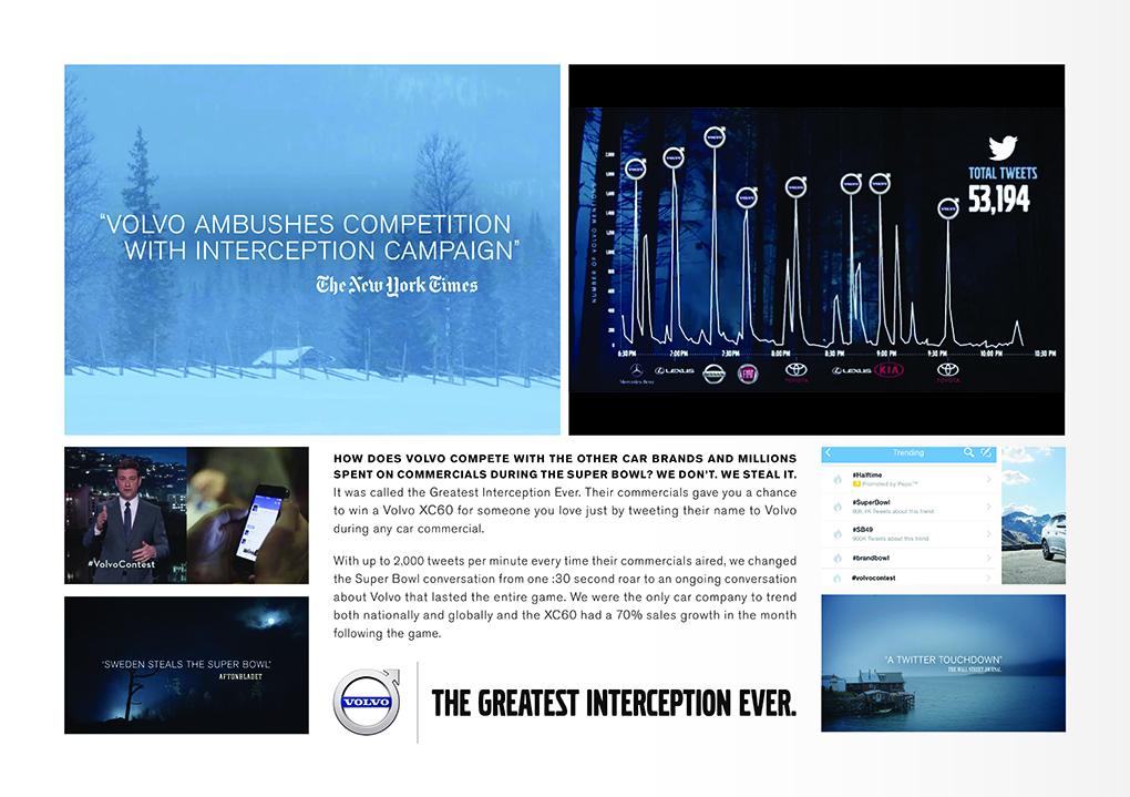 Interception, Volvo, Grey New York.