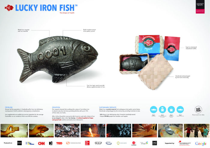 "GRAND PRIX ""The Lucky Iron Fish Project"" para el anunciante Lucky Iron Fish de la agencia Geometry Global, Emiratos Árabes Unidos."