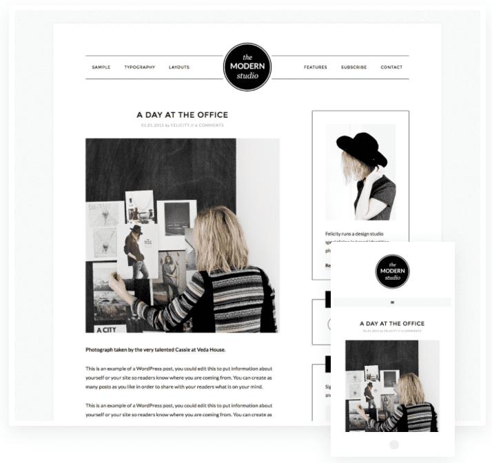 modern portfolio pro theme