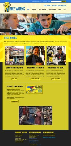 Bike Works nonprofit website