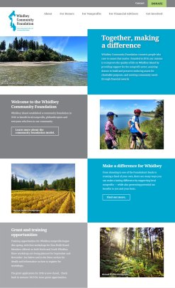 Whidbey Community Foundation website screenshot