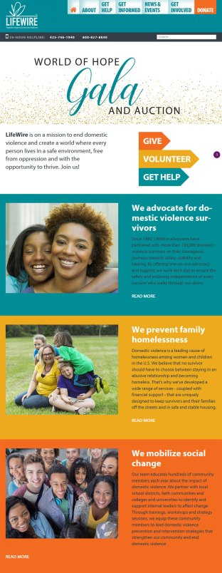 domestic violence nonprofit website