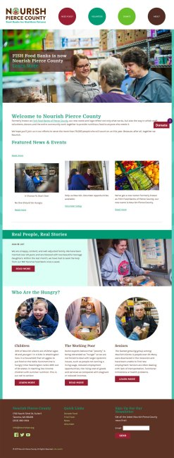 Nourish Pierce County Food Bank website