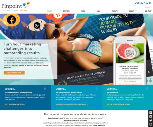 Pinpoint Strategic Marketing firm screenshot