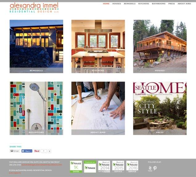 website for Alexandra Immel Residential Design
