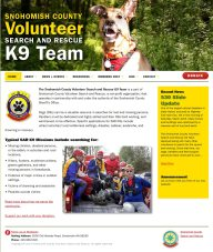 Volunteer Search and Rescue K9 Team website