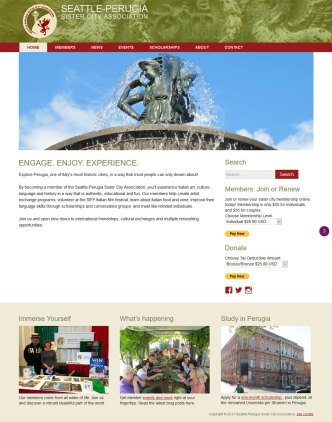 Seattle-Perugia Sister City Association website