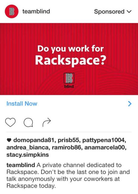 Blind Instagram Ad