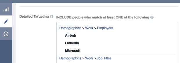 Facebook Employer Targeting