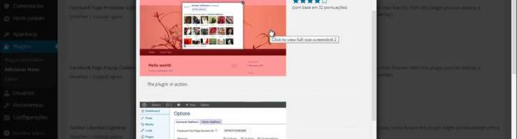 Instalando o Plugin do WordPress –  Facebook Page Promoter