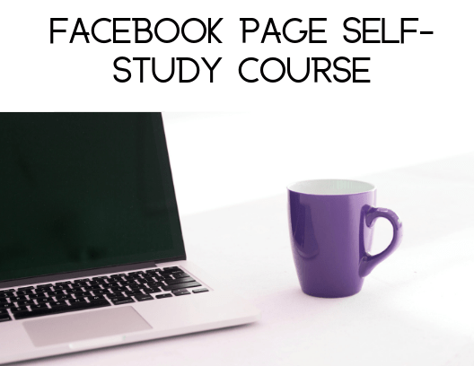 Facecbook page self-study course