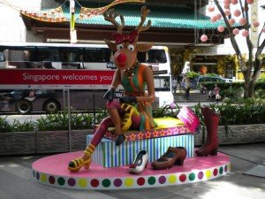 Singapore Celebrating Christmas on Orchard Road.