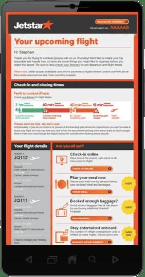 Jetstar Mobile Departure App 282x539pxl