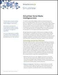 FP Sirius Social Media Intelligence 2015