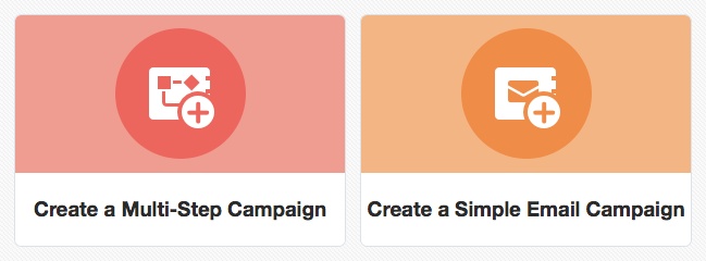 SCREEN SHOT Multi Step or Simple Email Campaign