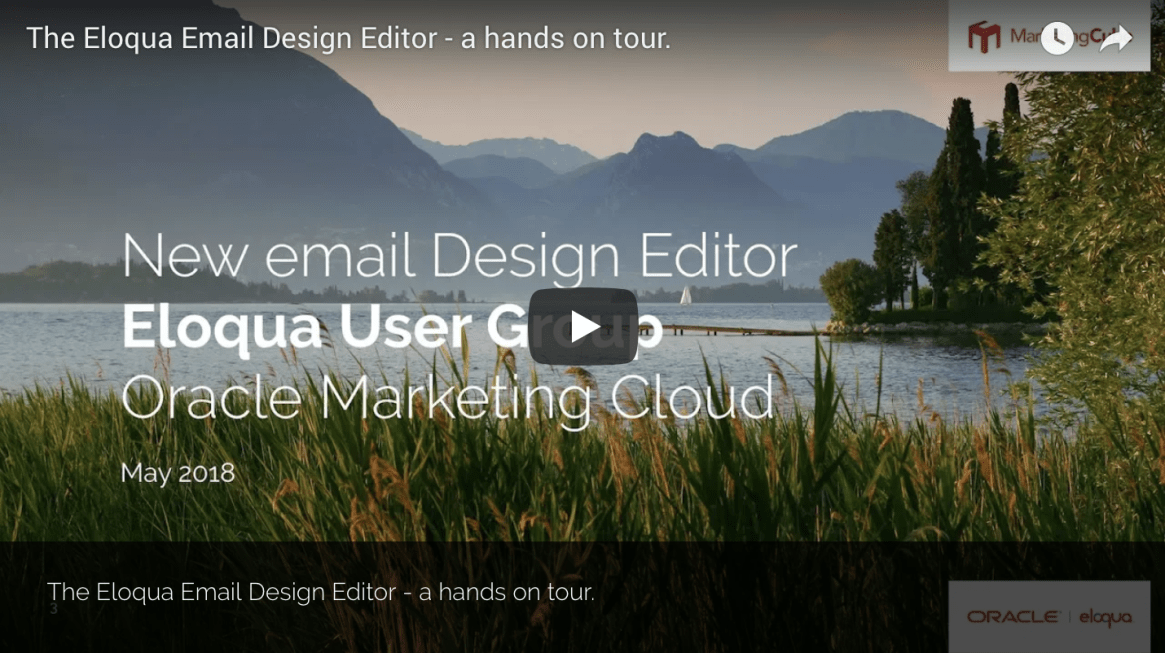 New Email Design Editor Eloqua User Group