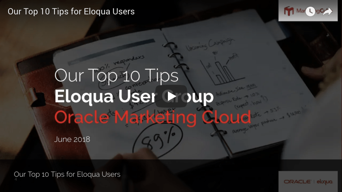 Our Top 10 Tips Eloqua User Group