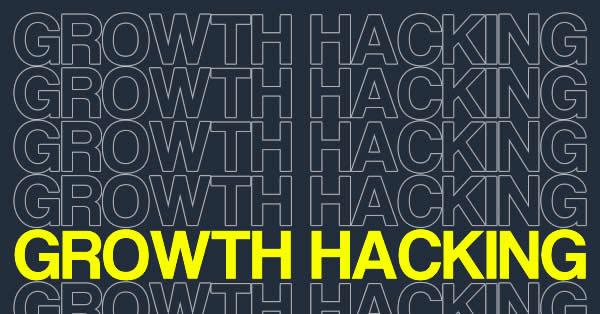 """Fundo sólido com o texto """"Growth Hacking""""."""