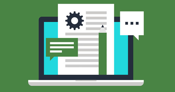 Estrutura básica de um blog em formato ilustrado de wireframe