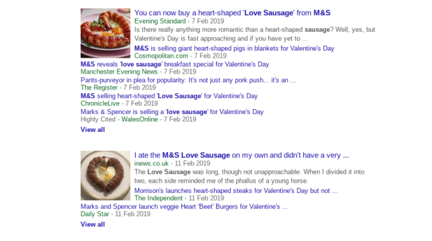 M&S love sausage in the news