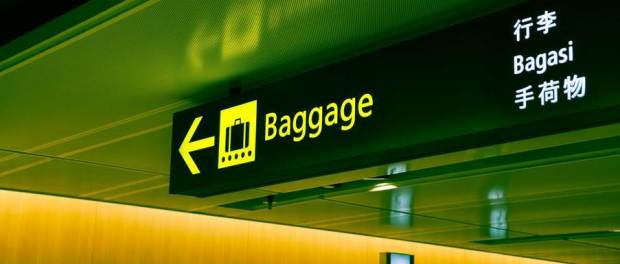 translated baggage sign