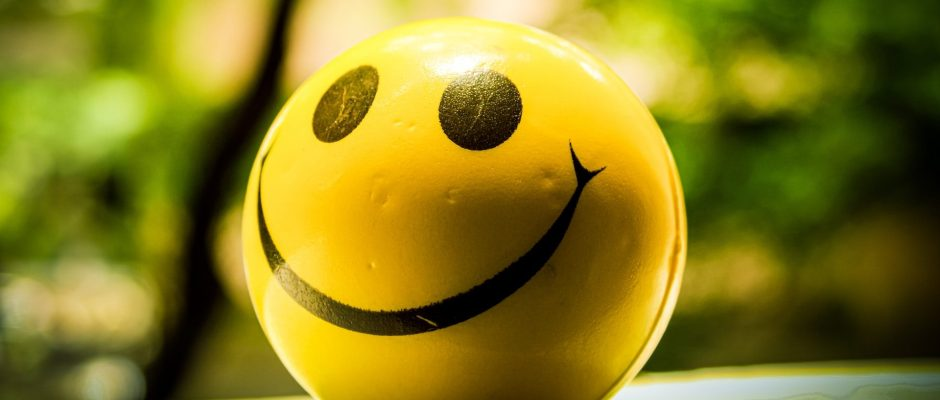 A ball with a smiley face on it.
