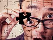 man in jigsaw puzzle