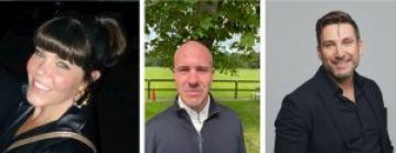 Three images of Adverty's new senior hires, from left Nicola Halpin, Christian Atack, Tobias Knutsson