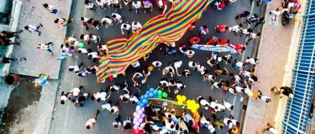 a gay pride event