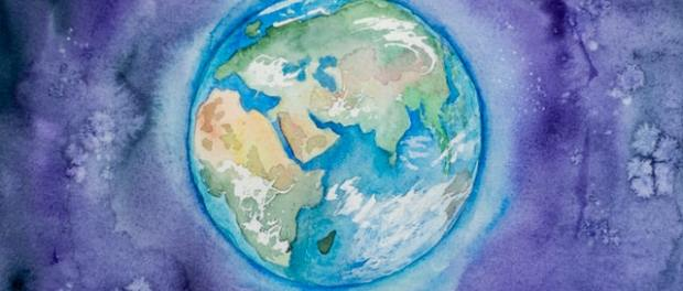 a painting of Earth
