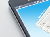 email app on a smartphone.