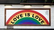 A Love is Love Pride sign.