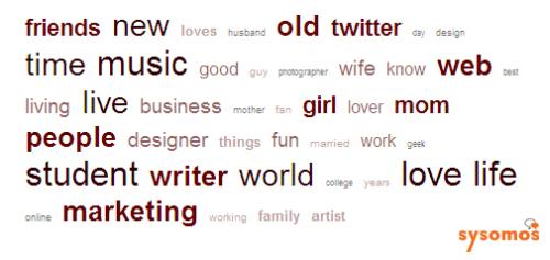 Twitterユーザーのプロフィールで最も使われているワードは?