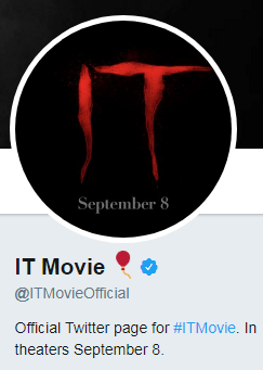 IT Movie Twitter Profile Name