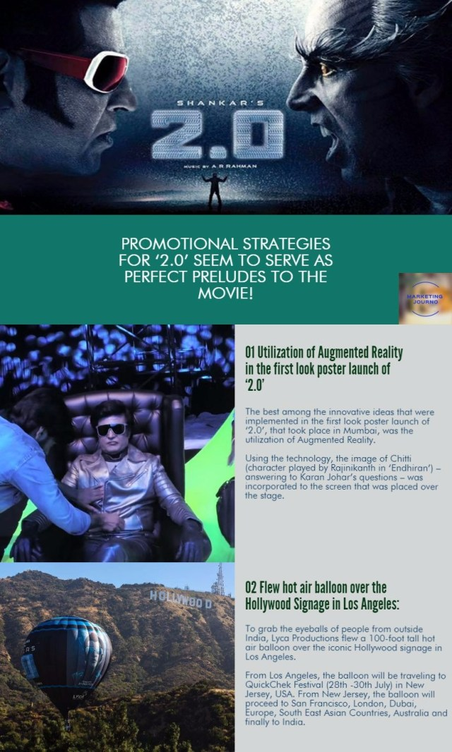 Promotional Strategies for '2.0' seem to serve as perfect preludes to the movie!