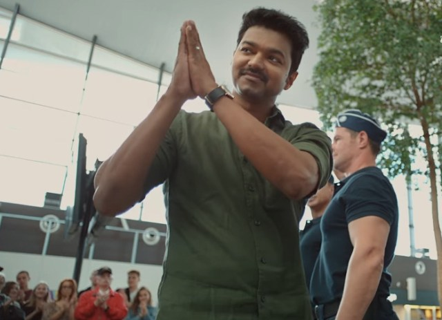 A still from Mersal featuring Vijay
