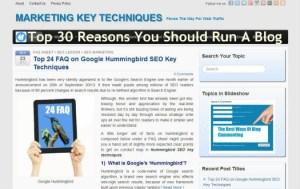 Should run a blog