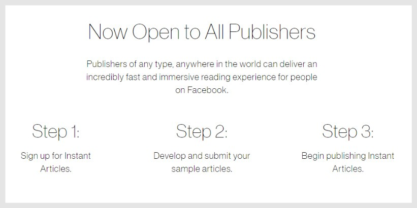 Facebook Instant Article Marketing