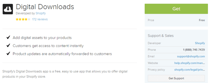 Download apps on Shopify