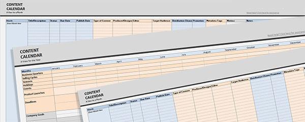 Editorial Content Calendar Template