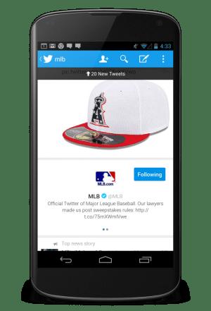Twitter updated app