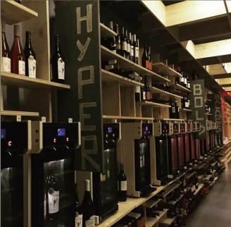 Dispensing machines line the walls at Taste Wine Company. Credit: Taste Wine Company.