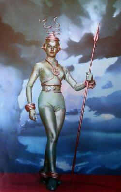 Modelo de mujer marciana