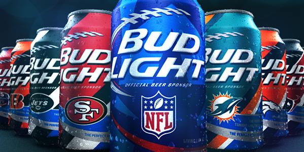 Football Bud Light Cans