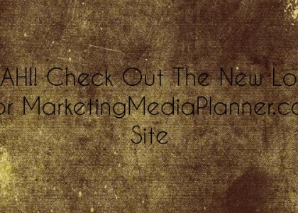 YEAH!! Check Out The New Logo For MarketingMediaPlanner.com Site