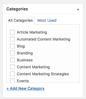 Post Category WordPress