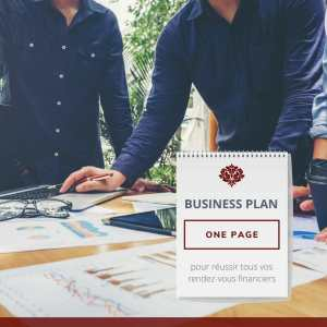 business plan one page entrepreneurs entrepreneuriat entreprendre startup start up pme micro entreprise financement finances banques crédit prêt emprunt développement commercial recrutement document synthétique pdf téléchargeable