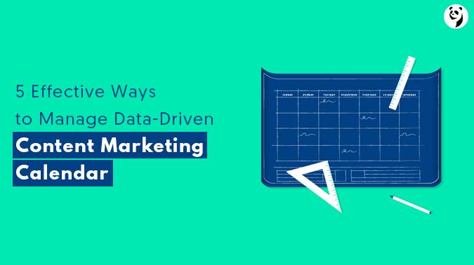 Data Driven Content Marketing Calendar