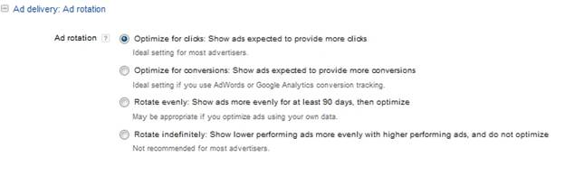 Adowrds Ad rotation